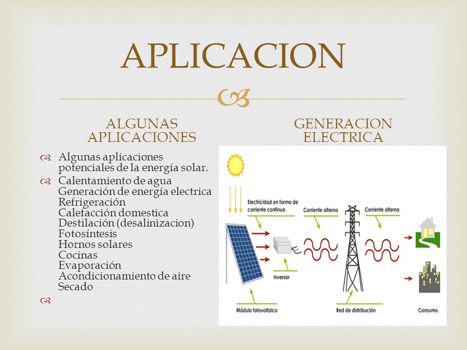 APLICACION ALGUNAS APLICACIONES GENERACION ELECTRICA