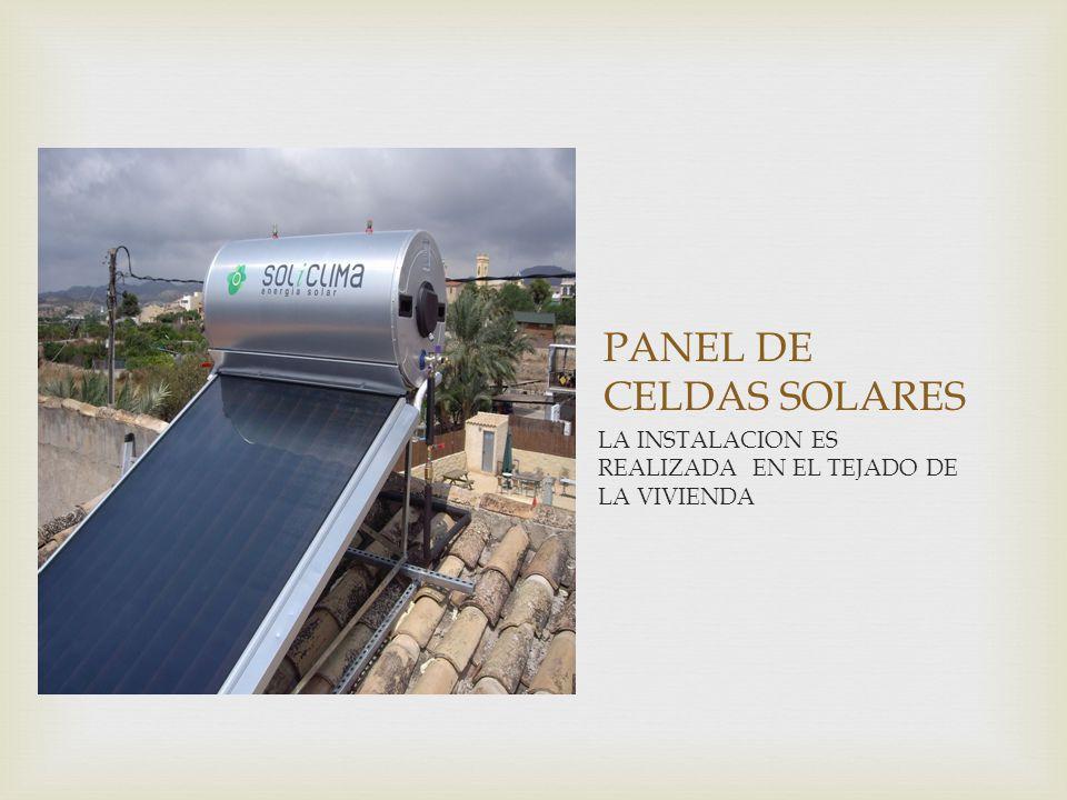 PANEL DE CELDAS SOLARES