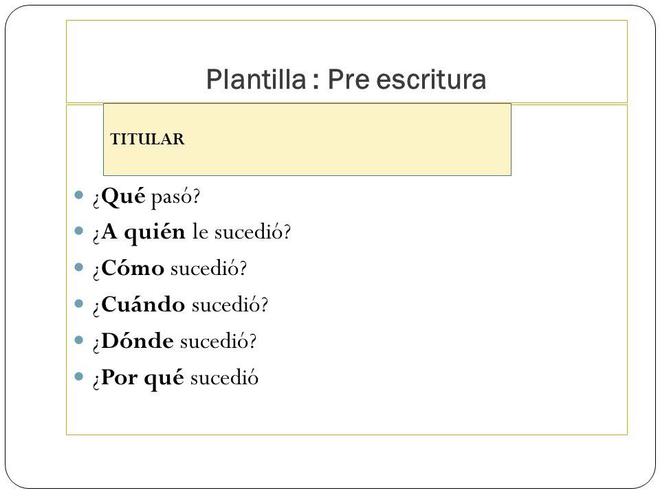 Plantilla : Pre escritura