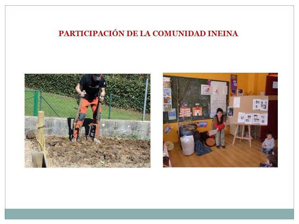 PARTICIPACIÓN DE LA COMUNIDAD INEINA