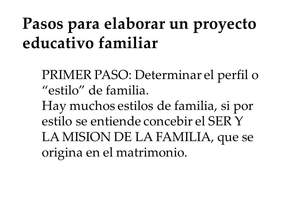Pasos para elaborar un proyecto educativo familiar