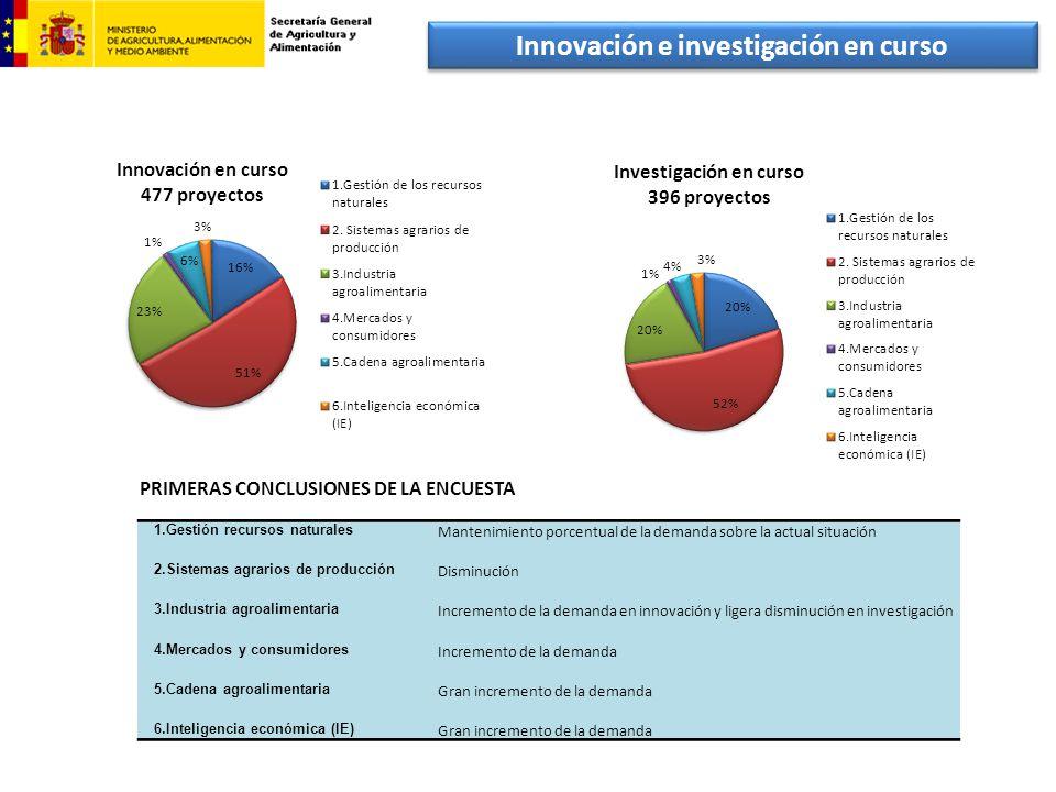 Innovación e investigación en curso