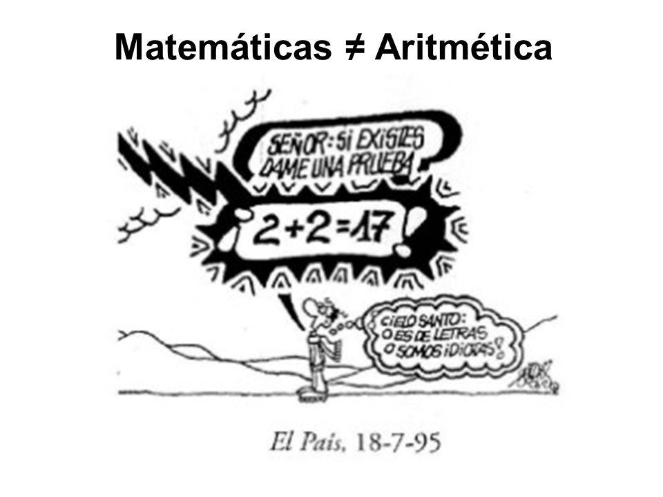 Matemáticas ≠ Aritmética