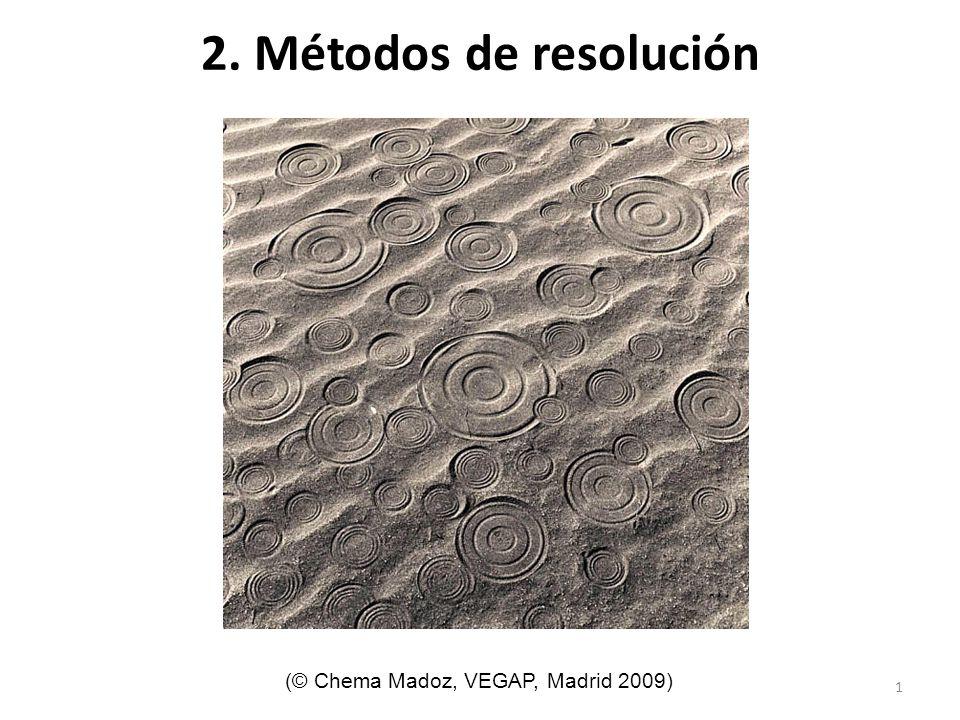 2. Métodos de resolución (© Chema Madoz, VEGAP, Madrid 2009)
