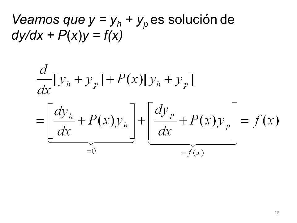 Veamos que y = yh + yp es solución de