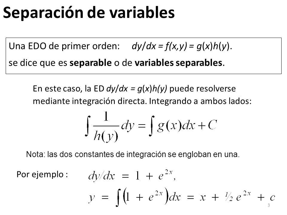 Separación de variables