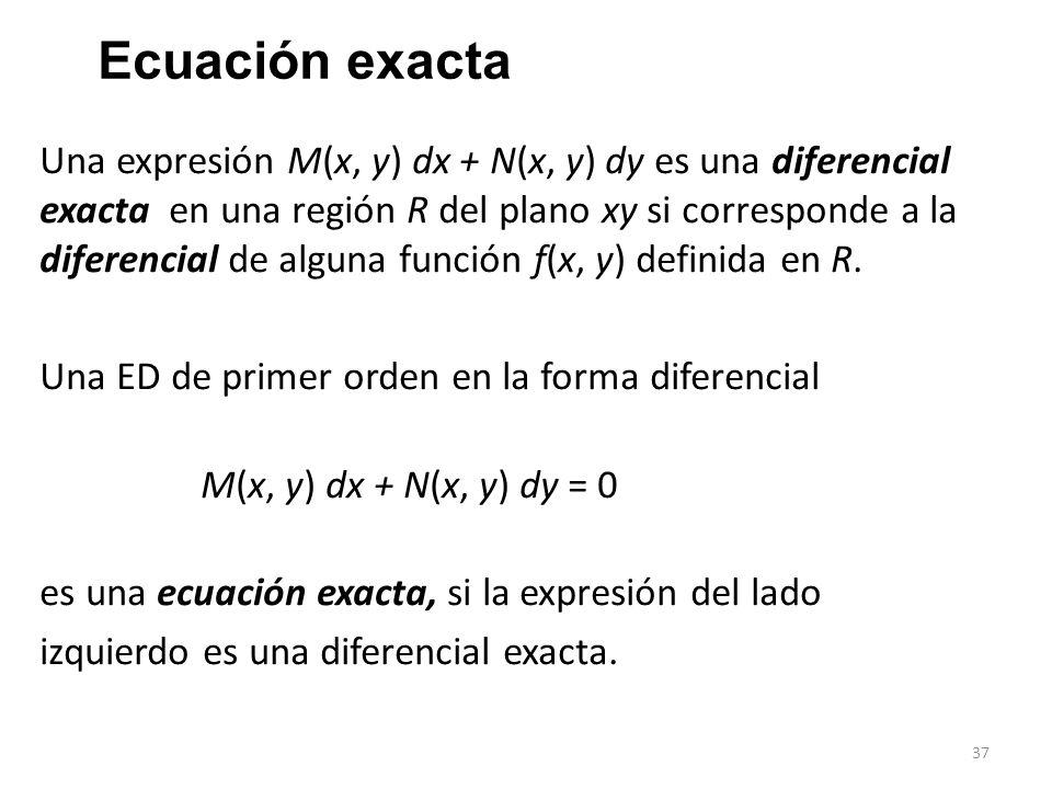 Ecuación exacta