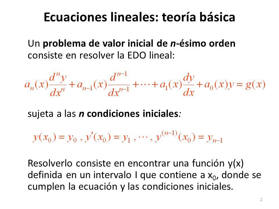 Ecuaciones lineales: teoría básica