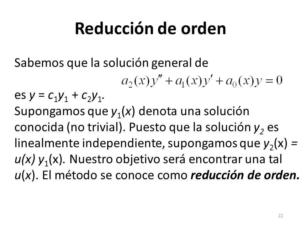 Reducción de orden