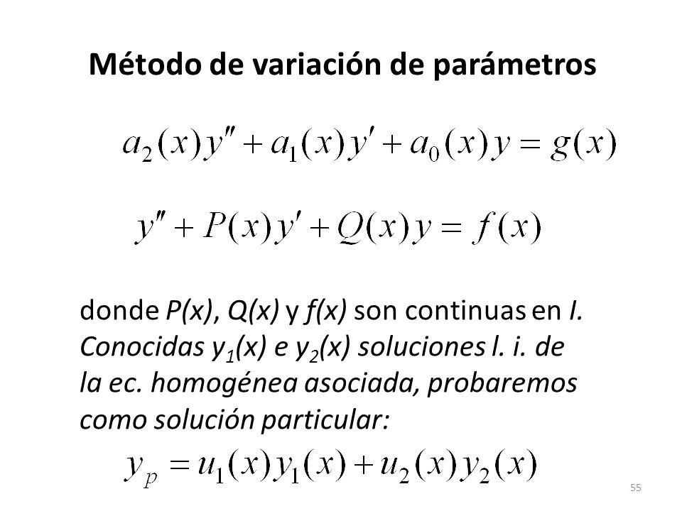 Método de variación de parámetros