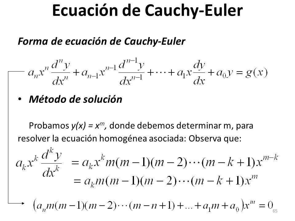 Ecuación de Cauchy-Euler