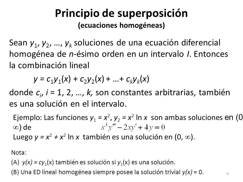 Principio de superposición (ecuaciones homogéneas)