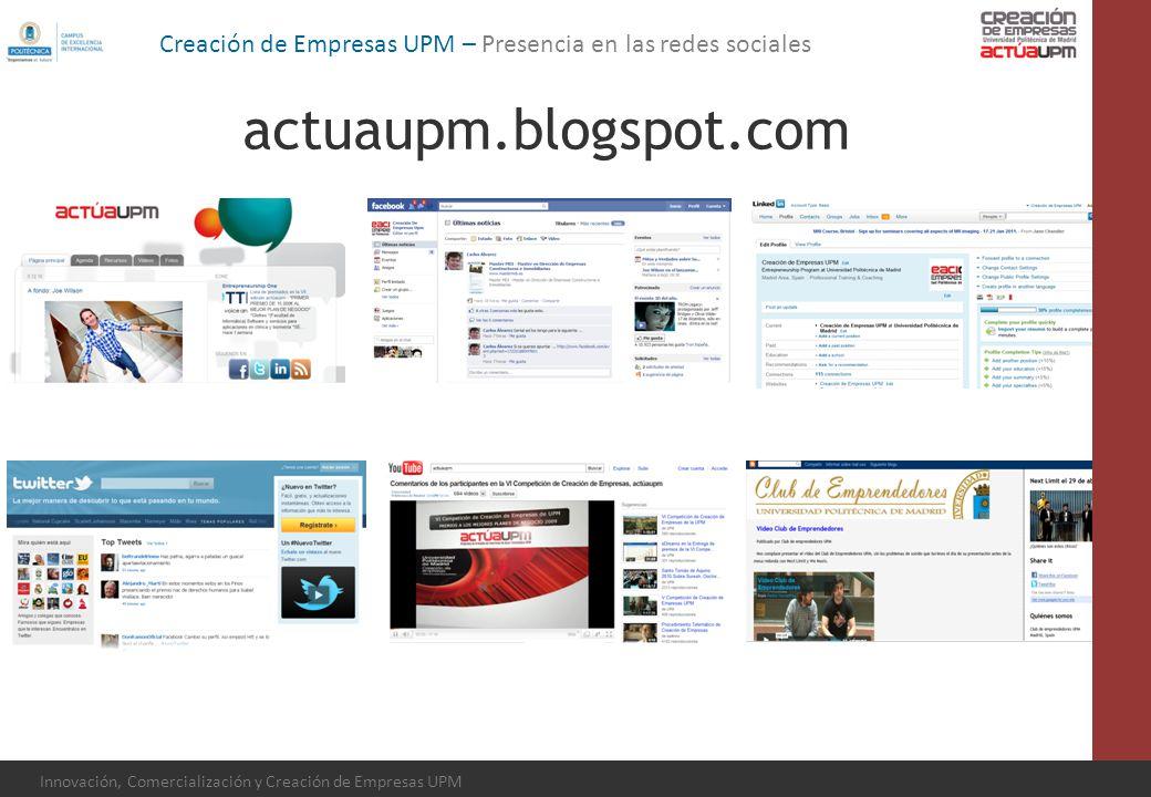 Creación de Empresas UPM – Presencia en las redes sociales