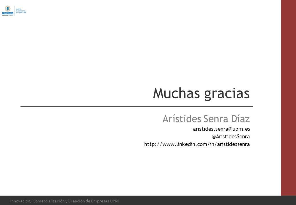 Muchas gracias Arístides Senra Díaz aristides.senra@upm.es