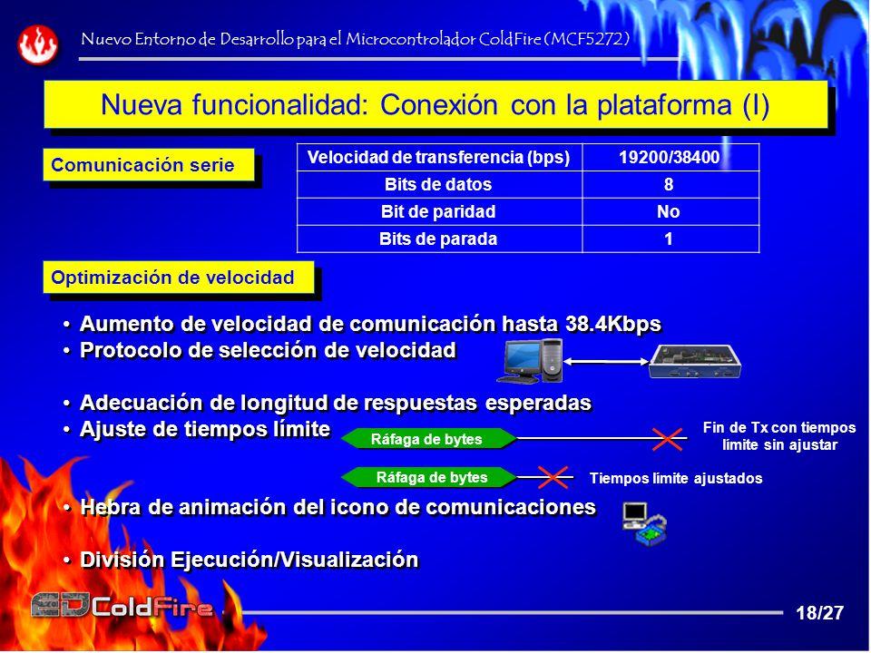 Nueva funcionalidad: Conexión con la plataforma (I)