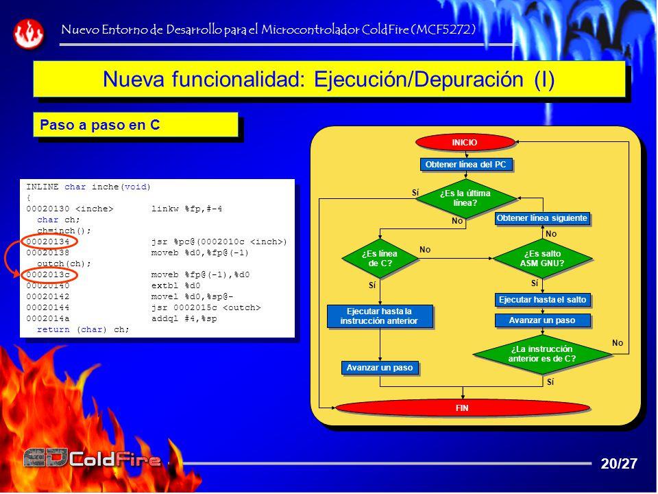 Nueva funcionalidad: Ejecución/Depuración (I)