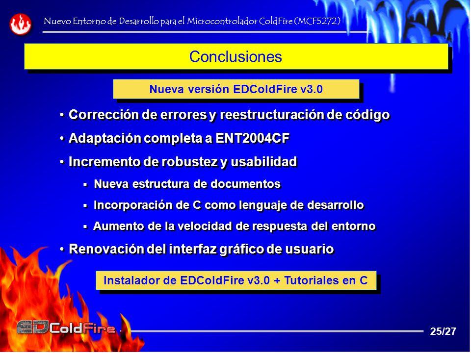 Conclusiones Corrección de errores y reestructuración de código