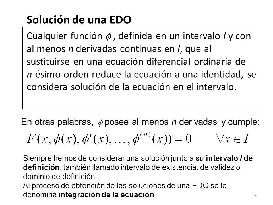 Solución de una EDO