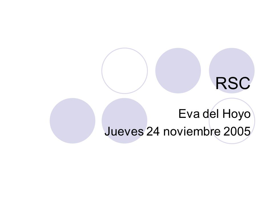 Eva del Hoyo Jueves 24 noviembre 2005
