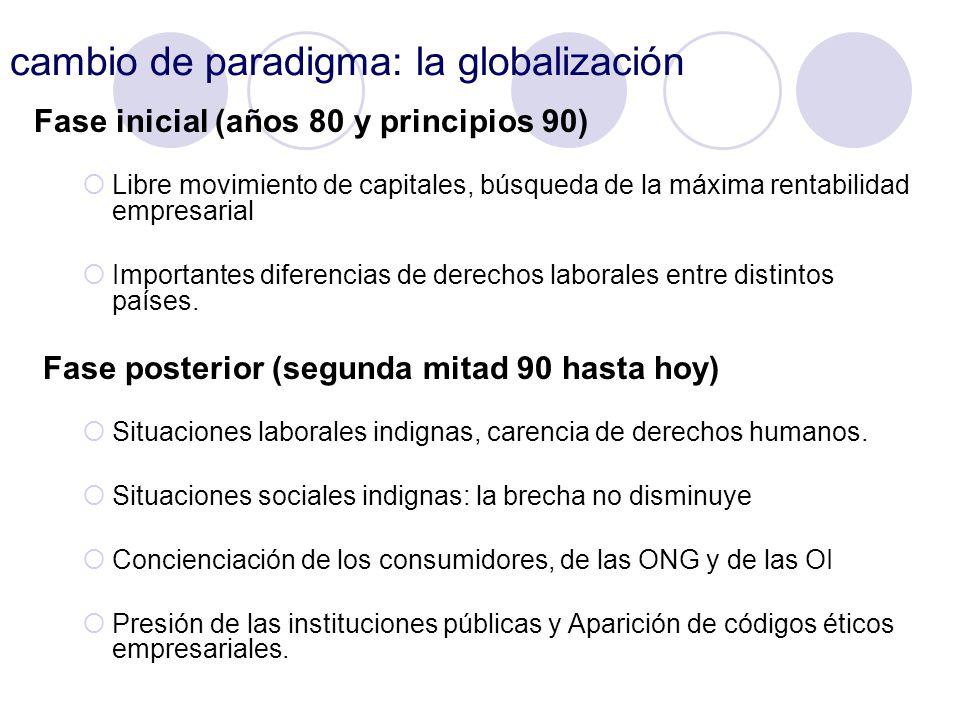 cambio de paradigma: la globalización