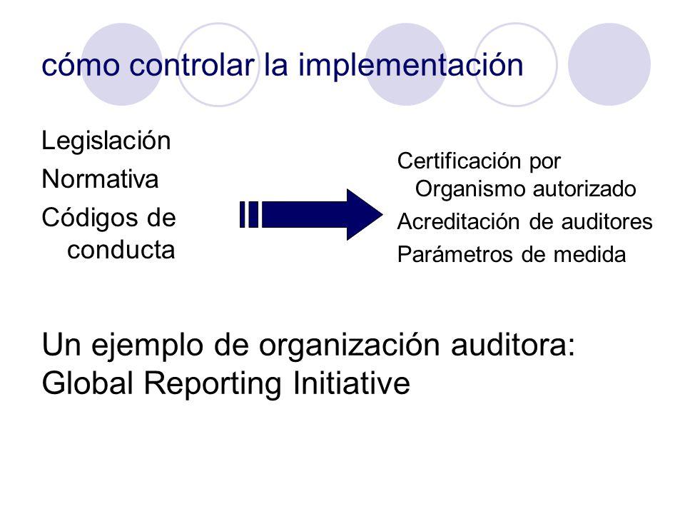 cómo controlar la implementación