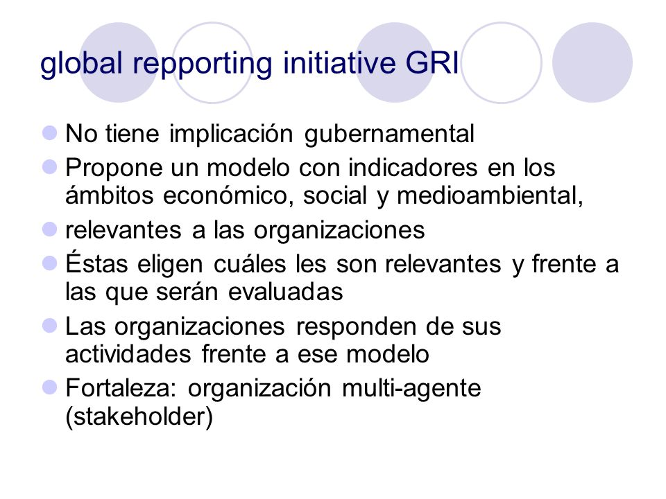 global repporting initiative GRI