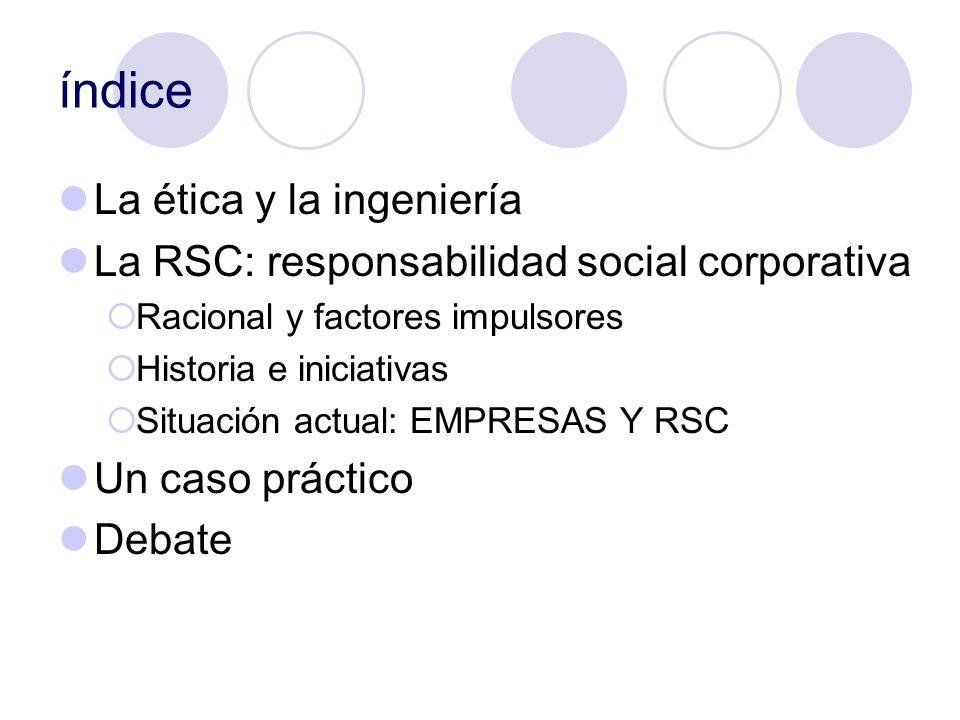 índice La ética y la ingeniería
