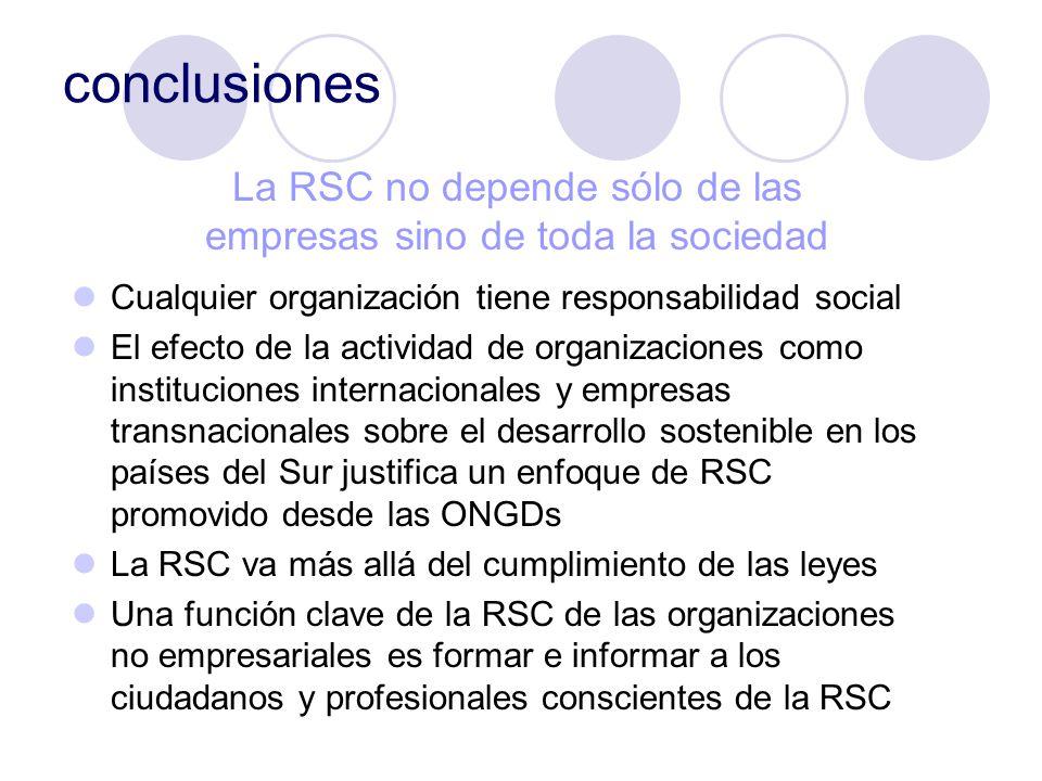 La RSC no depende sólo de las empresas sino de toda la sociedad