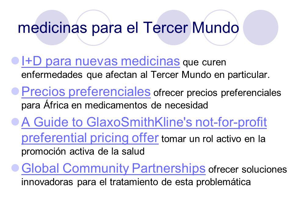 medicinas para el Tercer Mundo