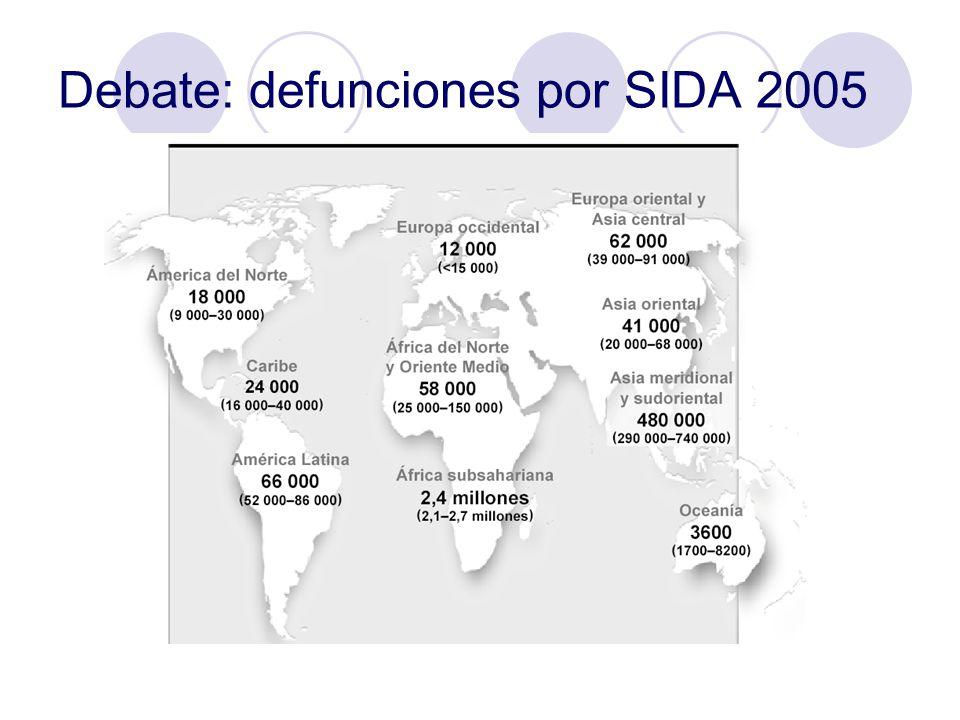 Debate: defunciones por SIDA 2005