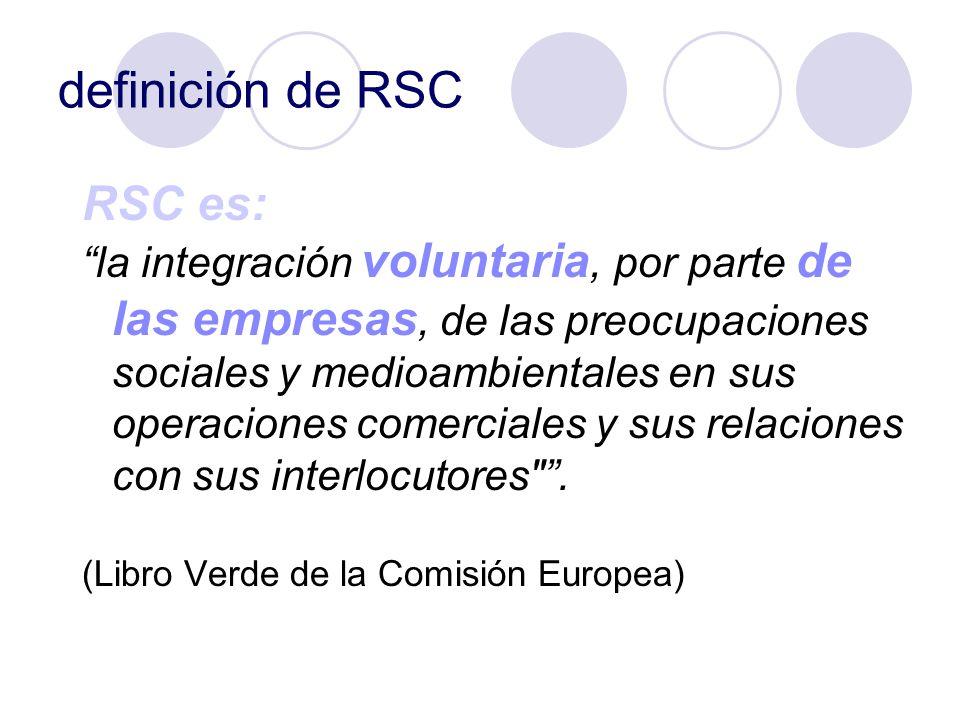 definición de RSC RSC es:
