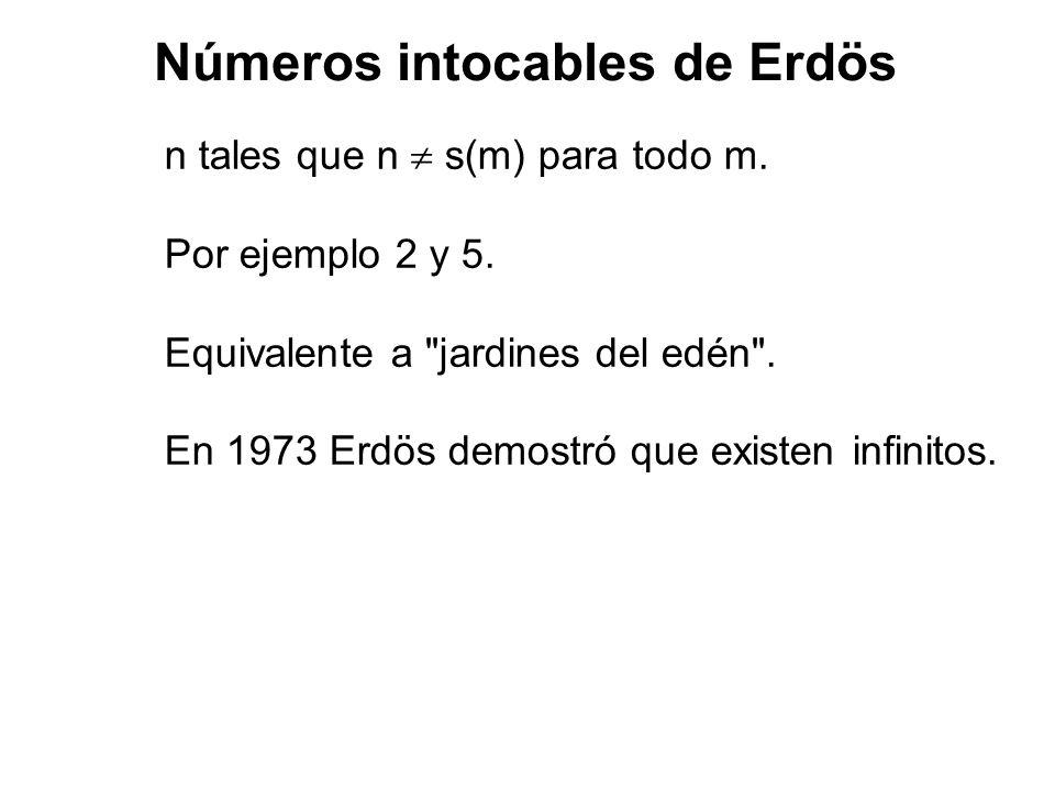 Números intocables de Erdös