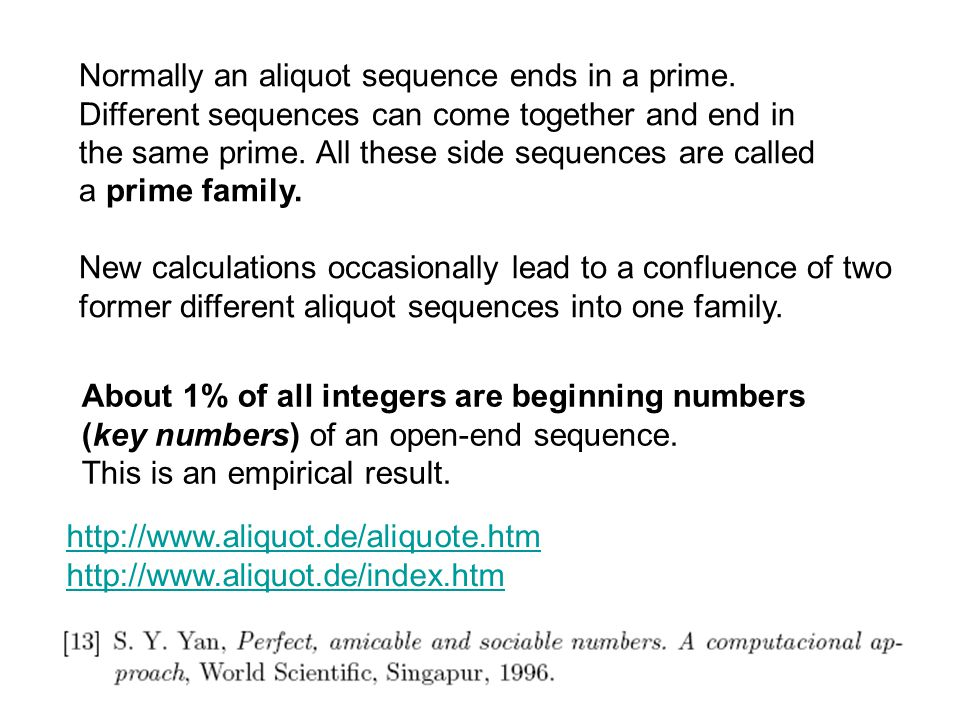 Normally an aliquot sequence ends in a prime.