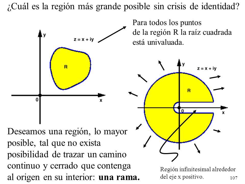 ¿Cuál es la región más grande posible sin crisis de identidad