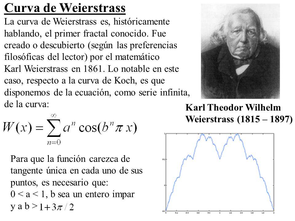 Curva de Weierstrass La curva de Weierstrass es, históricamente