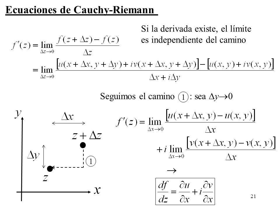 Ecuaciones de Cauchy-Riemann