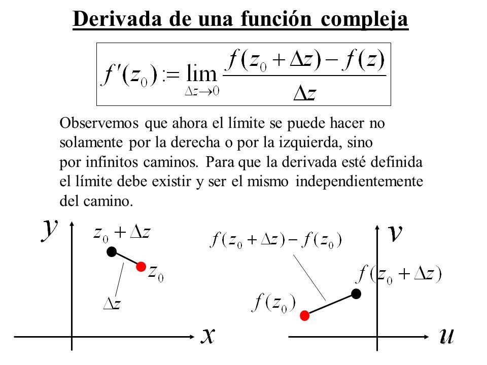 Derivada de una función compleja