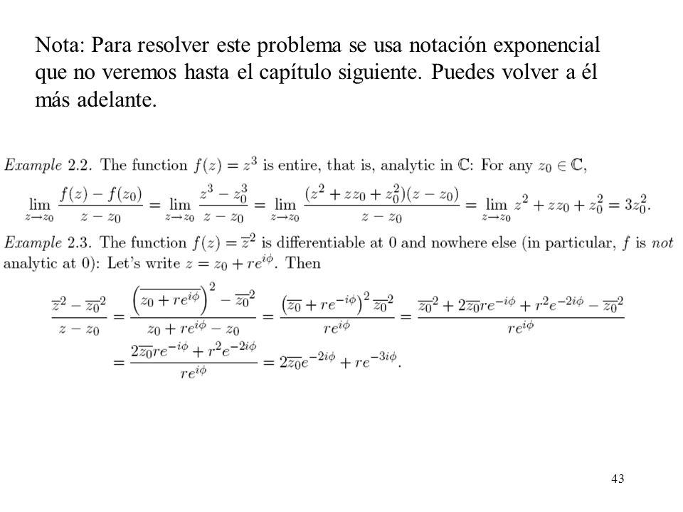 Nota: Para resolver este problema se usa notación exponencial