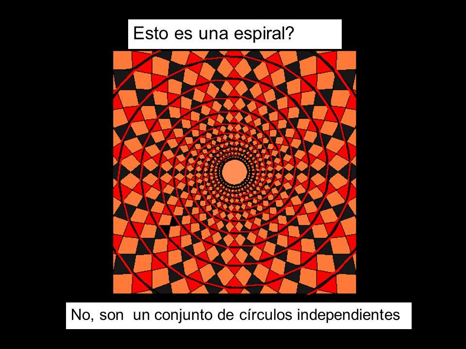 Esto es una espiral No, son un conjunto de círculos independientes