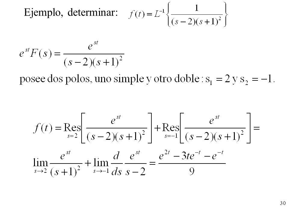 Ejemplo, determinar: