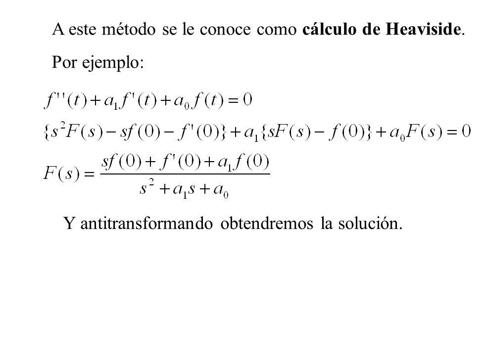 A este método se le conoce como cálculo de Heaviside.