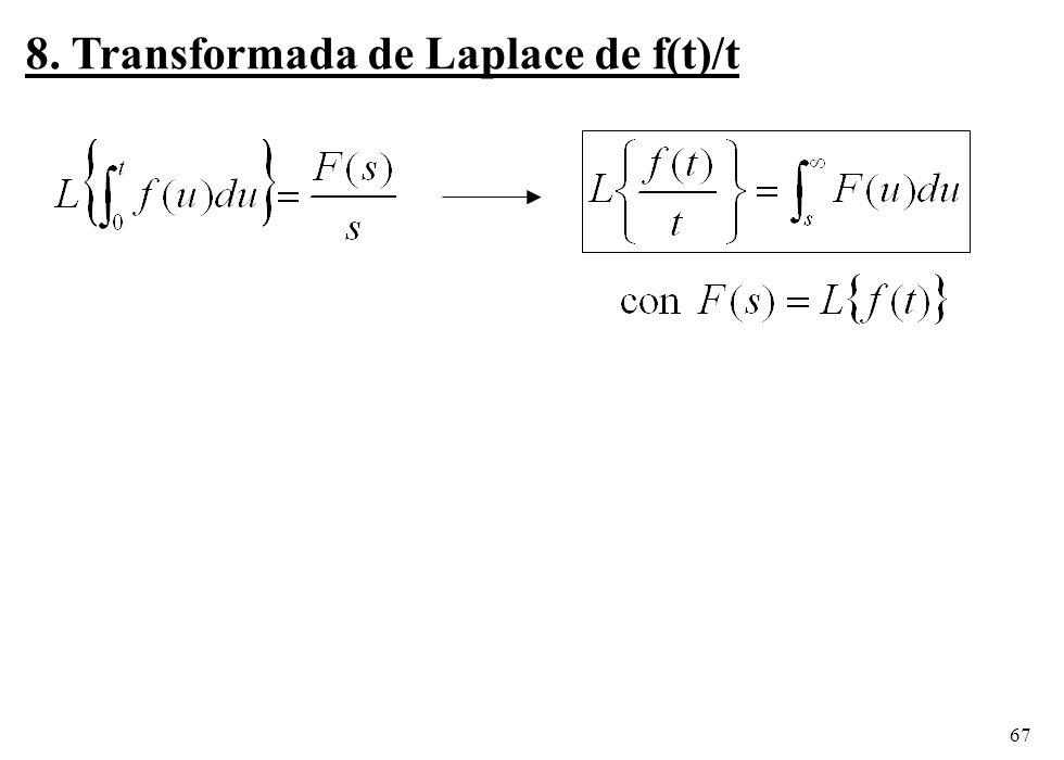 8. Transformada de Laplace de f(t)/t
