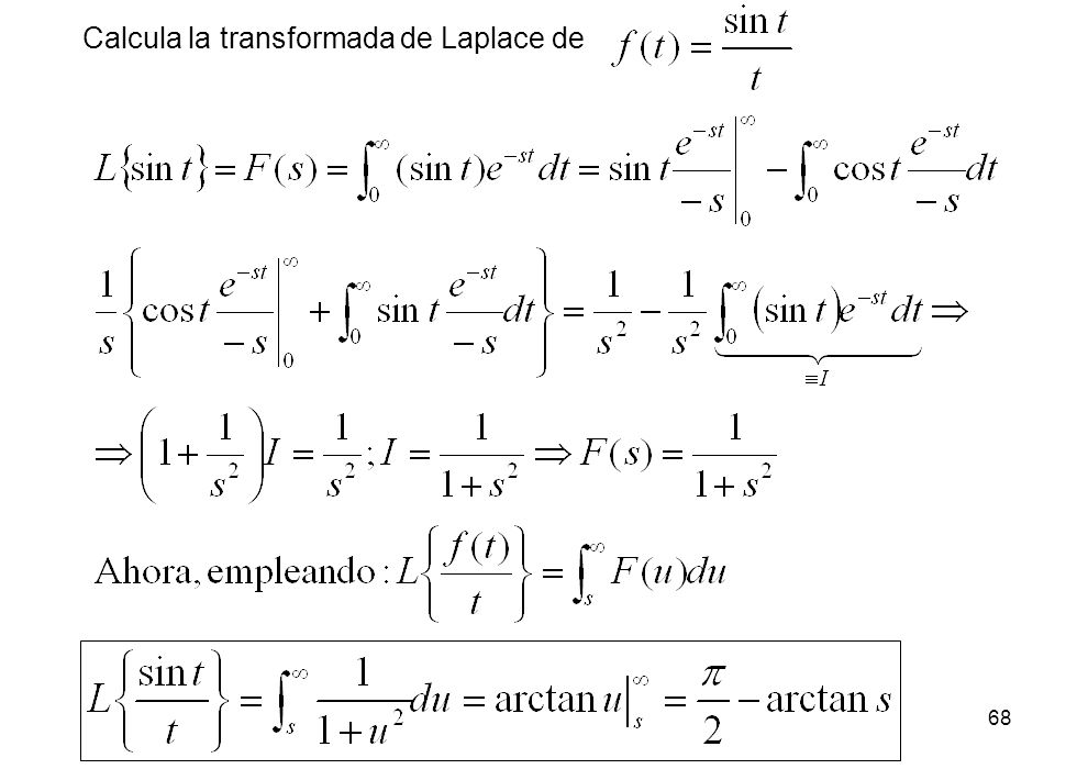 Calcula la transformada de Laplace de