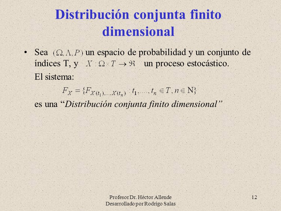 Distribución conjunta finito dimensional