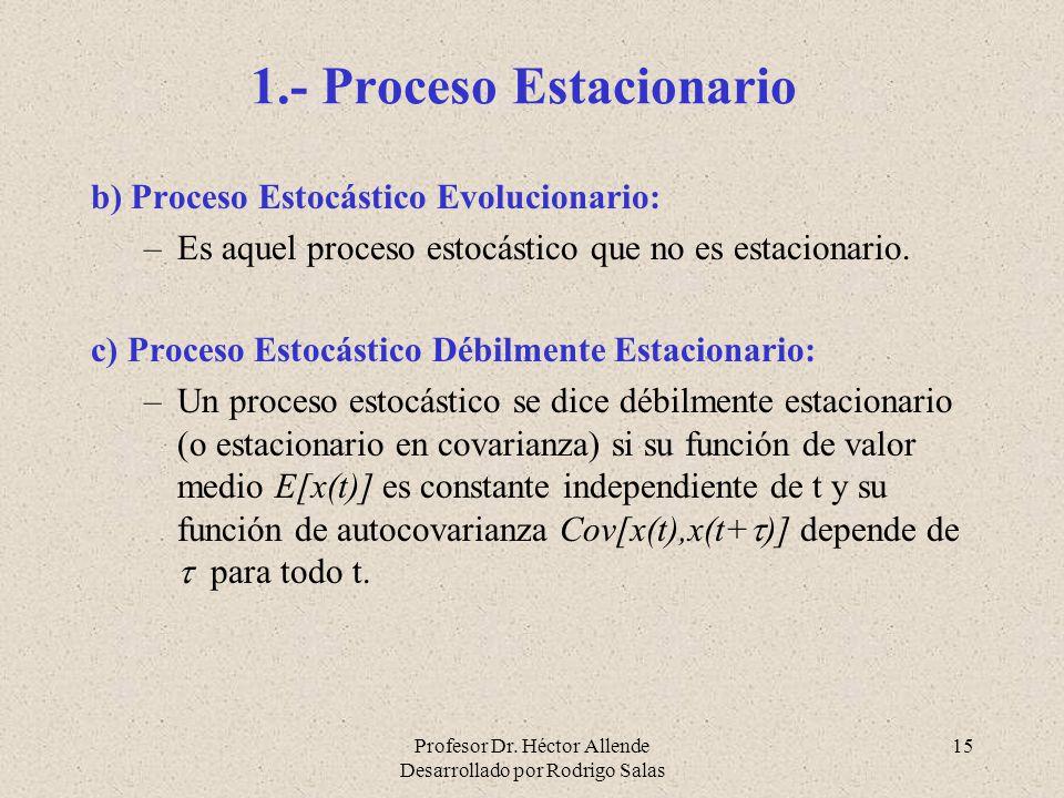 1.- Proceso Estacionario