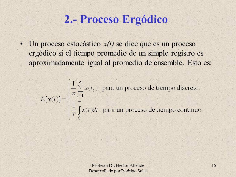 2.- Proceso Ergódico