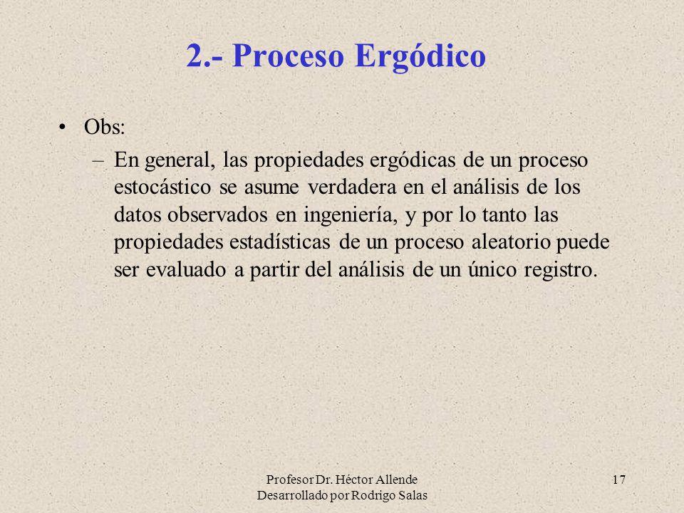 2.- Proceso Ergódico Obs: