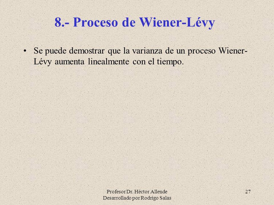 8.- Proceso de Wiener-Lévy
