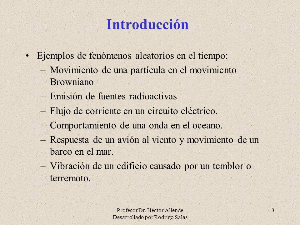 Introducción Ejemplos de fenómenos aleatorios en el tiempo:
