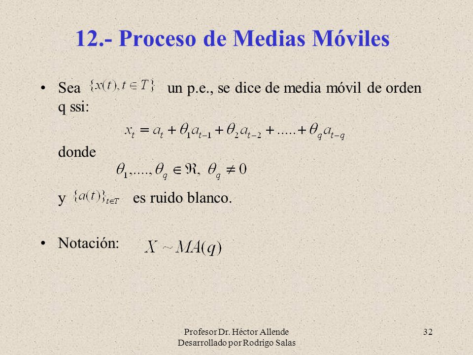 12.- Proceso de Medias Móviles